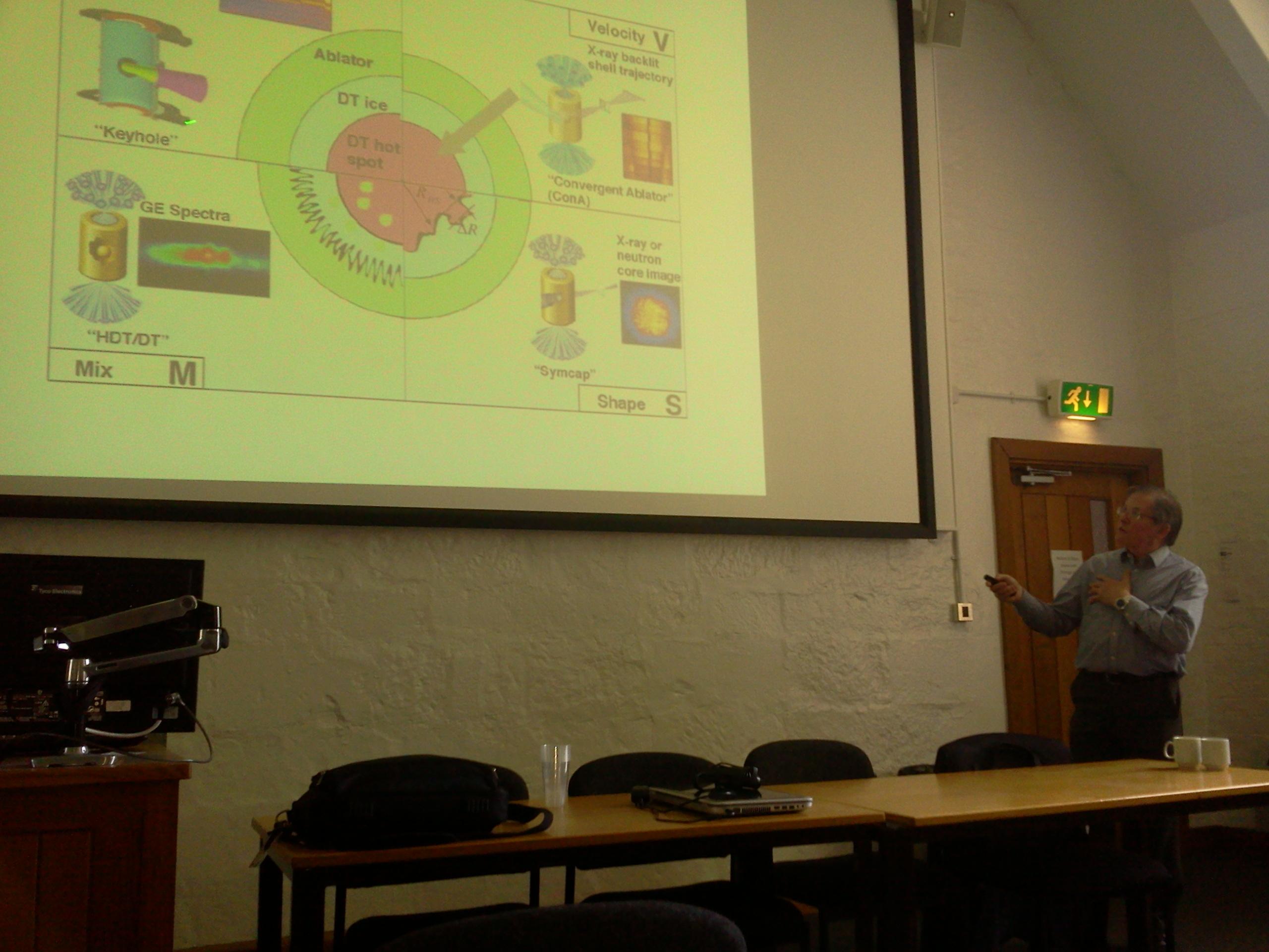 Prof. Bob Bingham from RAL/Strathclyde.