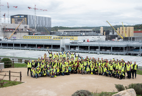 A group of PhD students at the ITER site